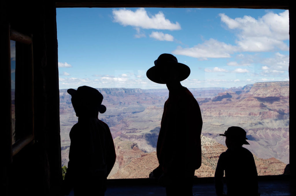 Three Boys at the Grand Canyon