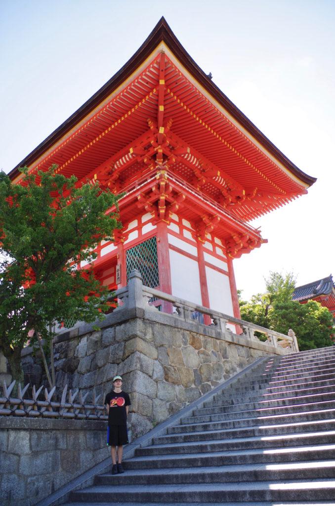 Just us at Kiyomizu-dera Shrine