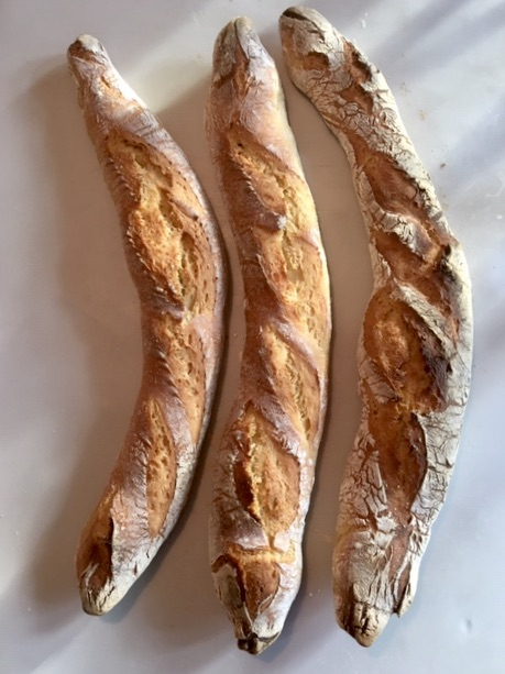 Sourdough Einkorn Baguettes