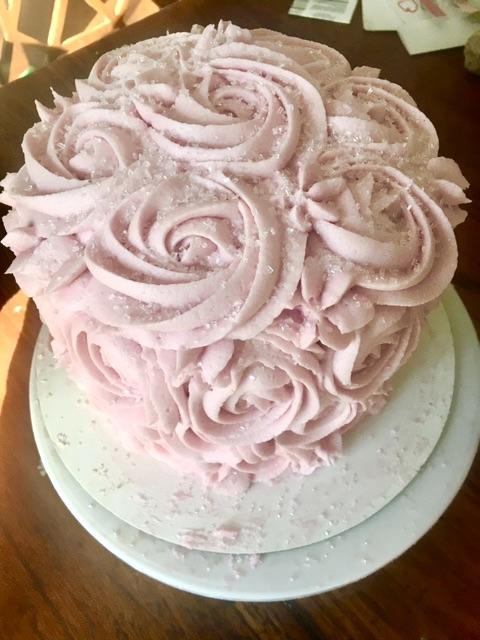 GF Vegan Rosette Cake